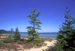 Lake Huron shore at Besser Nature Area near Alpena, Michigan