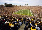 Michigan Stadium, University of Michigan, college football game on Saturday