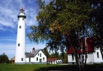 Presque Isle Lighthouse on Lake Huron, built 1870, is tallest on Great Lakes