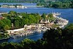 Saugatuck, Michigan, summer resort town at mouth of Kalamazoo River on Lake Michigan