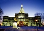 Michigan State Capital building in winter
