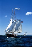 Tall ships Malabar and Manitou on Grand Traverse Bay