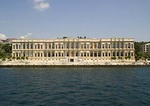Istanbul's Ciragan Palace luxury hotel facing the Bosphorus