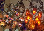 Turkish lamps in Istanbul's Grand Bazaar