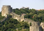 Istanbul's Rumeli Hisari (Thracian Castle) 1452 fortress overlooking Bosphorus