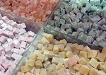 Turkish Delight candy in Istanbul's Grand Bazaar