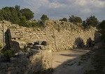 City wall of ancient city of Troy VI