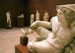 Ephesus Museum, statue of Resting Warrior and other Roman sculpture