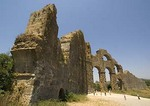 Ruins of Roman aqueduct at Aspendos