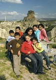 Turkish children of Cappadocia at Ortahisar