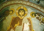 Frescoe of Jesus Christ in Goreme Open Air Museum, Sandal Church