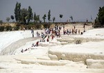 Travertine terraces of Pamukkale (Cotton Castle)