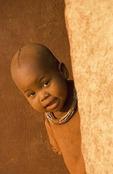 Himba boy in Kaokaland, near Opowu, Namibia