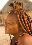 Himba woman in Kaokaland, near Opowu, Namibia