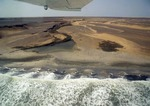Skeleton Coast of Namibia from small plane