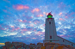 Cape Columbine lighthouse on Atlantic coast near Paternoster, South Africa