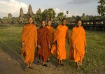 Young Buddhist monks at Angkor Wat