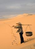 Bao Trang (White Lake) sand dunes at Mui Ne in Phan Thiet province