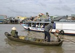 Mekong River Delta tourist boat near Can Tho