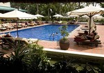 Pool at Victoria Can Tho Resort in the Mekong River Delta of Vietnam