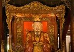 Hanoi's Van Mieu Temple of Literature main hall statue of Confucius