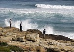 Fishing in the Atlantic at Cape of Good Hope
