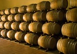 Wine barrels in KWV Winery in Cape Winelands