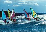Lake Michigan windsurfers at South Haven