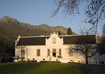 Lanzerac Wine Estate Hotel in historic 1830 Cape Dutch manor house in Jonkershoek Valley near Stellenbosch
