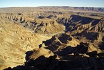 Fish River Canyon in the Ai-Ais and Fish River Canyon Park in southern Namibia