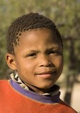 Namibian boy in southern Namibia town of Bethanie