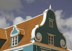 Willemstad waterfront pastel Dutch architectural detail