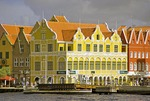 Willemstad Punda waterfront pastel Dutch architecture on the Handelskade