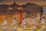 Miyako Odori Cherry Blossom Dance by geisha at Kyoto's Gion Corner