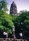 Suzhou's Yun Yan Pagoda built in 961AD on Tiger Hill (Hu Qiu)