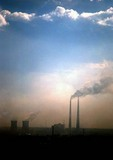 Air pollution from burning coal in Hohhot in Inner Mongolia