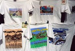 Great Wall Souvenir T-shirts on sale at Badaling