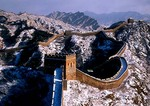 Great Wall at Jinshanling in winter, Hebei province