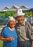 Elderly Kyrgyz couple in Kargul, Kyrgyzstan