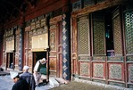 Xian's Grand Mosque built in Chinese style with Hui Muslims entering for prayer