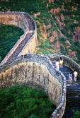Couples on Great Wall of China at Jinshanling northeast of Beijing in Hebei Province