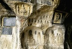 Buddhist carvings in cave of Fubo (Wave-Subduing) Hill in Guilin