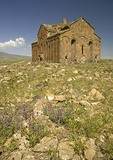Remains of Great Cathedral at Ani, ruined capital of Armenian Kingdom, on eastern Turkey border with Armenia