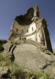 Remains of Church of the Redeemer St. Prkitch at Ani, ruined capital of Armenian Kingdom, on eastern Turkey border with Armenia