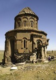 Remains of St. Gregory Church of the Abughamrents at Ani, ruined capital of Armenian Kingdom, on eastern Turkey border with Armenia