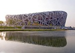 China National Stadium (Bird's Nest), site of 2008 Summer Olympic Games, in Beijing