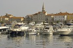 Budva Old Town marina on Adriatic coast of Montenegro