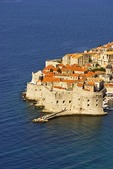 Dubrovnik Old Town historic walled city on Adriatic