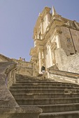 Dubrovnik Old Town's St. Ignatius Church at top of Jesuit steps