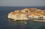 Dubrovnik Old Town on Dalmatian Coast of Adriatic